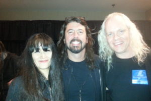Sean Lee and Miwa with Dave Grohl