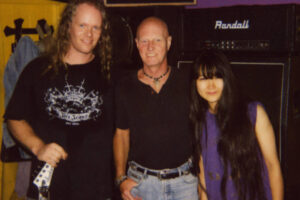 Sean Lee with Chris Slade of AC/DC and Miwa