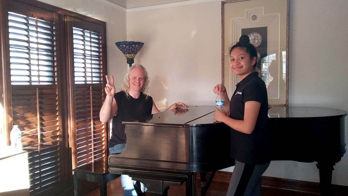 In-home lesson with my student Bela